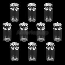 10pcs Mini Glasflasche Flaschen Anhänger Wishing Glasfläschche Flaschenpost
