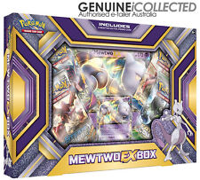 Mewtwo-EX Pokemon Card Box | 2 x Holo Promo Ultra Rare + 4 x Booster Packets