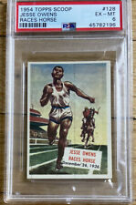 1954 Topps Scoop #128 Jesse Owens Races Horse PSA 6