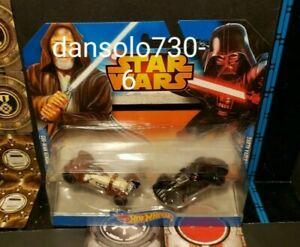 Star Wars Hot Wheels Obi Wan Darth Vader Character car 2 pack
