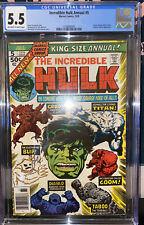 CGC 5.5 INCREDIBLE HULK ANNUAL #5 1976 Marvel (Over 40 Years Old) New Slate