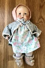 "ANTIQUE EIH CO EIHC HORSMAN DOLL - Composition 11"" Tall - Noise Maker & Clothes"