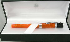 Monteverde Jewelria Orange & Chrome Fountain Pen - Fine Nib - New - 50% Off