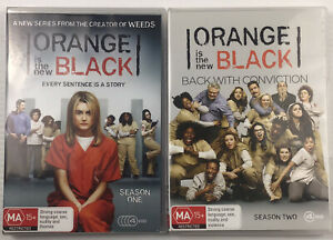 Orange Is The New Black - Seasons 1 & 2 - 8 x DVD Discs Region 4 AUST Free Post