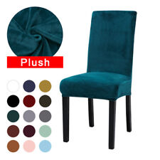 Plush Thick Dining Chair Cover Elastic Winter Warm Velvet Chair Covers