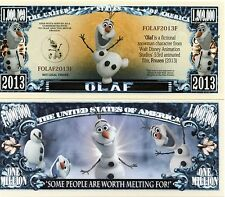 OLAF - Frozen - Disney Movie Character Million Dollar Novelty Money
