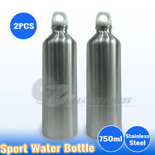 2PCS 750ml Stainless Steel Water Bottle Sport Outdoor Training Drink Gym Camping
