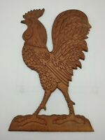 Vintage Wood Wooden Farmhouse  ROOSTER pot  HOLDER Rustic wall decor chicken