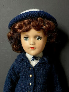 """Original Vintage 1940's (?) 14"""" Mary Hoyer Composition Doll Original (?) Outfit"""