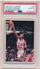 1994-95 Upper Deck Collectors Choice Michael Jordan Silver Signature #240 PSA 10