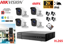 KIT VIDEOSORVEGLIANZA HIKVISION 2K ULTRA HD DVR+4 TELECAMERE 4MPX+HD500GB IP66