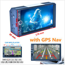 "7"" HD 2Din Touch Screen Car GPS Navigation Bluetooth FM Radio MP5 Player+8GB Map"