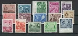North Borneo, 1954 Postage Stamps Locals Pictures 294-308, (30217)