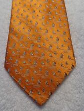 TANGO MENS TIE ORANGE WITH SAILBOATS NWT MADE IN USA 58.5 X 4