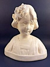 Gustave VAN VAERENBERGH Alabaster Bust of a Young Girl Signed and Numbered