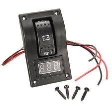 Multifunction Car On-Off Blue LED Rocker Switch Panel Voltmeter Gauge & Dual