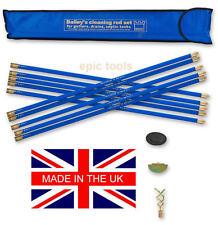 BAILEY 10 x BRASS Drain Rods 3/4in Set Plus Worm,Plunger,Scraper & Case,5431