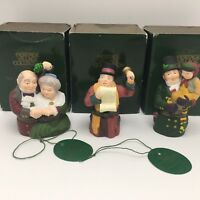 3 Dept 56 Dickens Village GOD BLESS US SPIRIT OF CHRISTMAS TOWN CRIER Hinged Box
