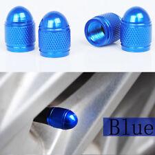 4x Universal Blue Bullet Shaped Auto Car Motorcycle Wheel Tire Valve Cap Seal