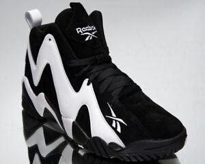 Reebok Classic Kamikaze II Men's Black White Retro Basketball Lifestyle Sneakers