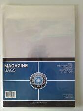 "CSP Magazine Bags Protector 100ct NIP 8 3/4""x11 1/8"" w/ 1 1/2"" flap"