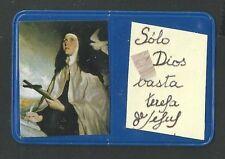 holy card reliquia de Santa Teresa image pieuse estampa