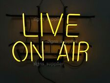 """New Live On Air Neon Sign 24"""" Light Lamp Pub Bar Wall Poster Holiday Gift"""