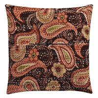 Indigo Pillow Tie Dye Cushion Cover Shibori Round