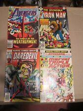 comic book lot Marvel Spider man, Thor, Avengers, Iron Man, vintage 1970's