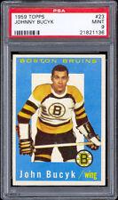 1959-60 Topps #23 Johnny Bucyk PSA 9 MINT