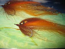 2 V Fly Size 2/0 ULTIMATE PREDATOR Streamer Amber FLASH Saltwater MOSCHE