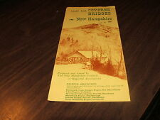 1961 VISIT THE COVERED BRIDGES OF NEW HAMPSHIRE BROCHURE