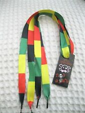 Premium Rasta Bob Marley Stripes Design Rockabilly Punk Shoe laces Shoelaces