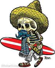 El Borracho Surfer STICKER Decal Kruse RK20
