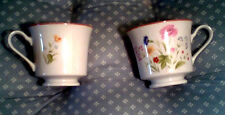 LOT of TWO (2) Stratford L9008 Summer Melody Pattern Footed Coffee/Tea Cups EUC!