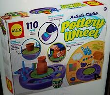 Alex Artist's Studio Soft Clay 110 Pieces Easy To Use Foot Pedal Pottery Wheel