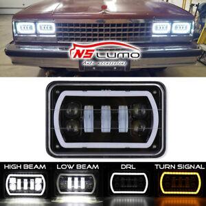 "4x6"" High Low Beam LED Headlights H4656/4651 For Kenworth Peterbilt 357 379 378"