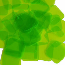 Lime Green Transparent Sequin Square Diamond See-Thru 1.5 inch Couture Paillette