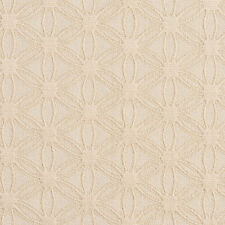 E535 Off White, Flower Durable Jacquard Upholstery Grade Fabric By The Yard