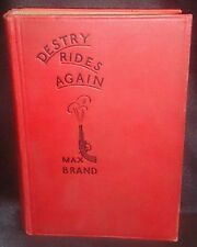 1st Edition 1930 Destry Rides Again by Max Brand aka Faust Hard Cover / Back