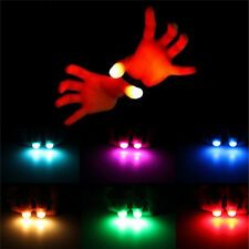2x Magical Super Bright Light Up Thumbs Fingers Trick Appearing Light Close PBQ