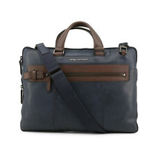 Piquadro Mens Leather Laptop Briefcase with Removable Shoulder Strap