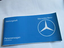 Mercedes Carnet D'Entretien W 107 116 123 W107 Service à la Clientèle Scheckheft