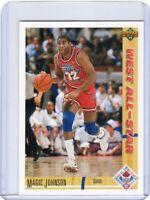 1991-92 UPPER DECK BASKETBALL CARD # 57 -  MAGIC JOHNSON - LOS ANGELES LAKERS