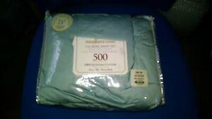 NEW  Cal King Size 500 Thread Count  Eqyptian cotton  Sheet Set sky blur