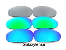 Galaxy Replacement Lenses For Oakley Juliet Blue&Green&Titanium Polarized 3Pairs