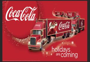 Coca Cola Truck Retro Metal Aluminium Sign Man Cave Bar Pub Coke Advertising Tin