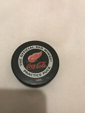 Detroit Red Wings NHL Coca-Cola Official Practice Used Hockey Puck