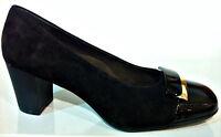 CINZIA SOFT IQ154-CSA NERO scarpe donna mocassini tacco sneaker camoscio pelle