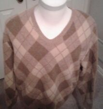 $225 Polo Golf Ralph Lauren Wool Argyle V-Neck Sweater Xl
